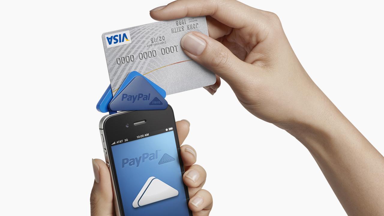 Оплата товаров и услуг банковской картой через терминал Paypal