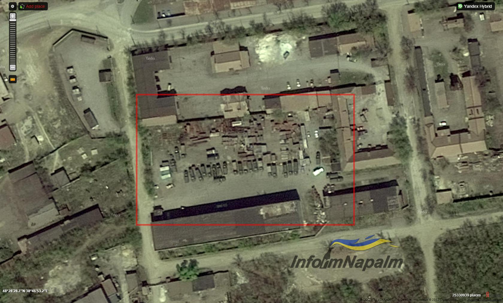 Яндекс выдал все координаты врага на Донбассе