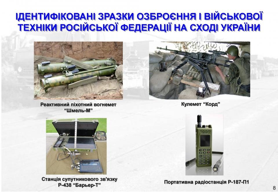 Разведка показала оружие, которое завезла Россия на Донбасс