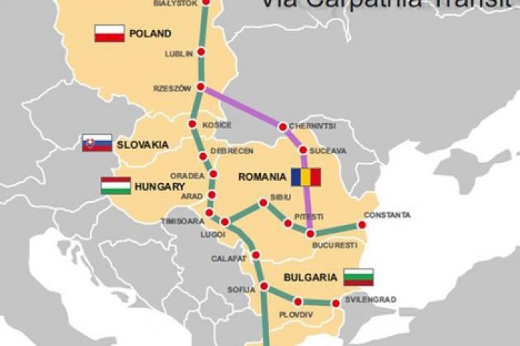 Украина присоединилась к созданию транспортного коридора от Балтики до Эгейского моря