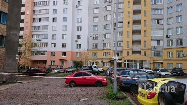 Появилось видео сместа взрыва наАкадемгородке вКиеве