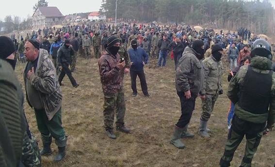 ВРовенской области копатели янтаря ранили семь полицейских