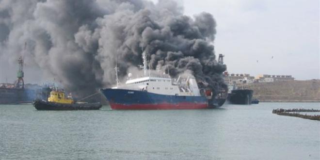 Пожар на русском танкере потушили