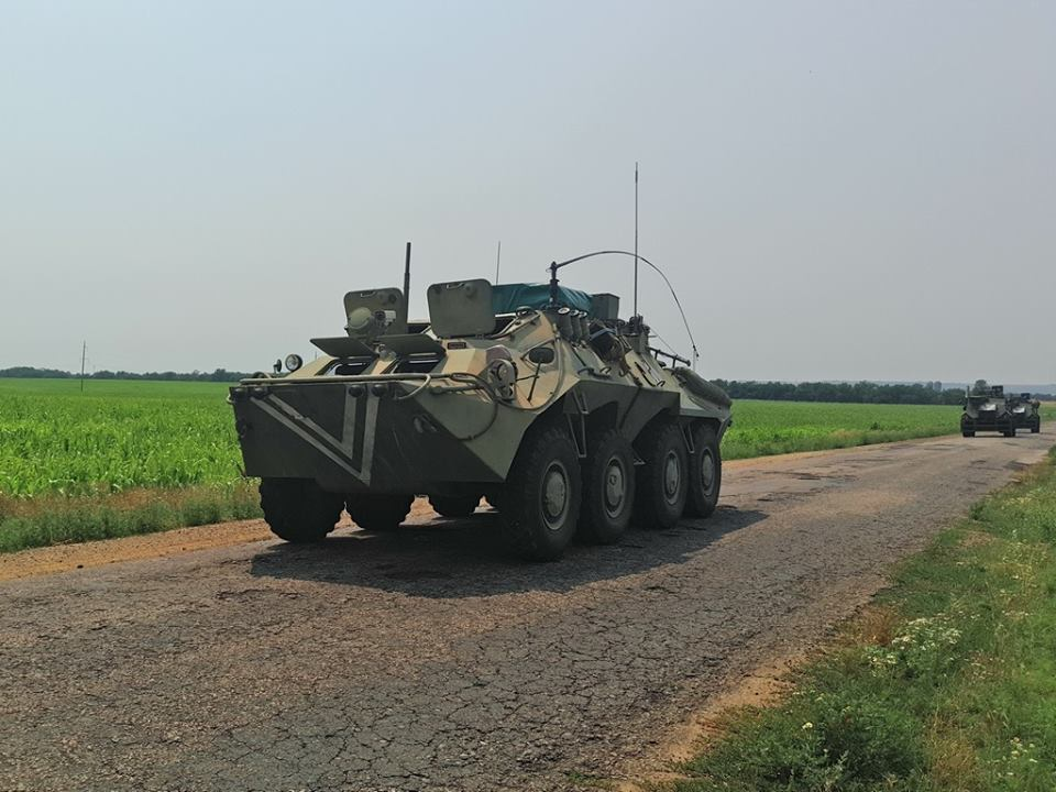 Засутки взоне АТО ранены семь военных ипограничник