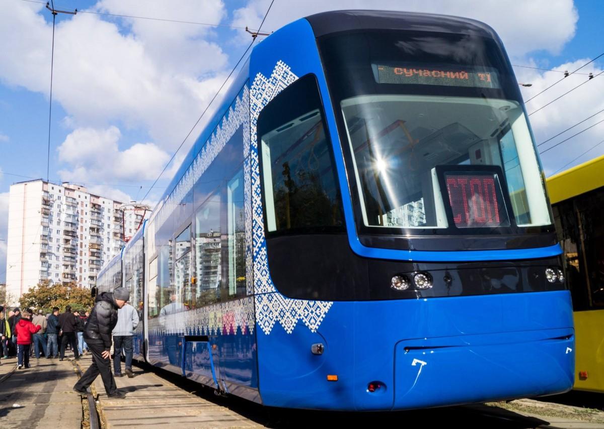 ВКиеве появился бесшумный трамвай сWi-Fi икондиционером