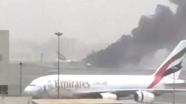 Авария самолета вДубае. Появилось видео момента катастрофы