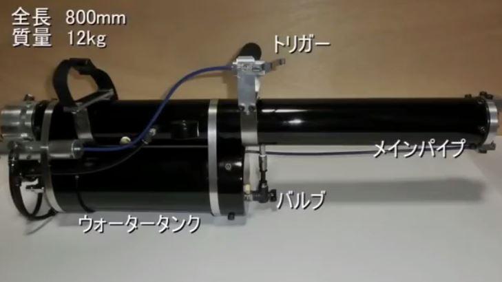 ВЯпонии изобрели смертоносную водяную пушку