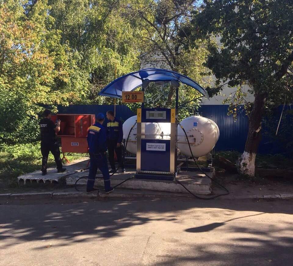 ВКиеве демонтировали АГЗС около Института ядерных исследований