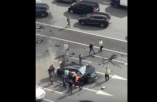 В столицеРФ разбился собственный шофёр В. Путина