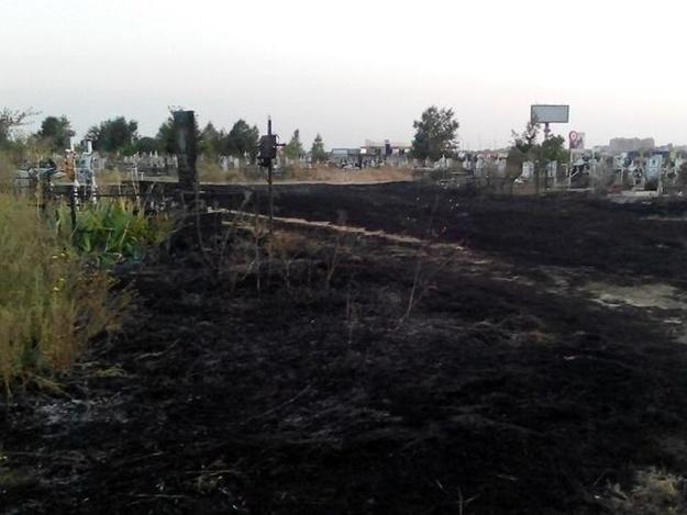 Насамом огромном кладбище Украинского государства произошел пожар