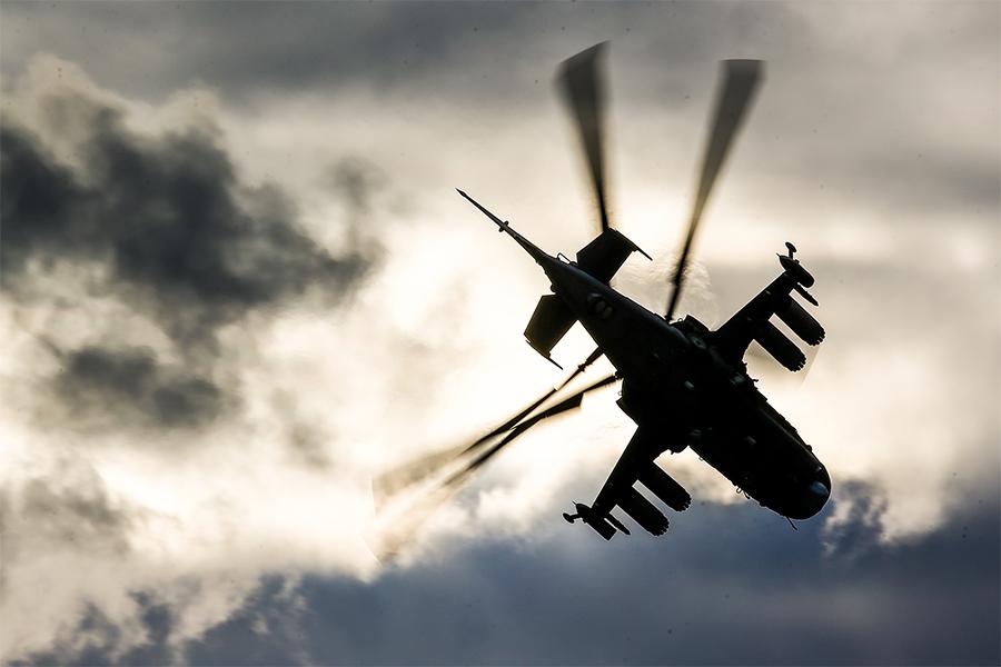 Видео с российским вертолетом в Украине привязали к местности