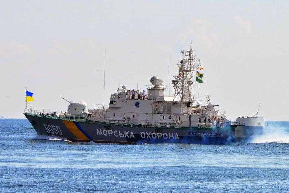 Украинские пограничники обвинили кораблиЧФ РФ в«опасных маневрах»