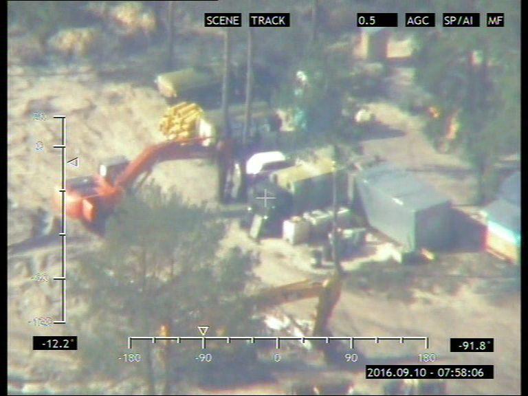 НаРовенщине пограничная авиация зафиксировала новые места незаконной добычи янтаря