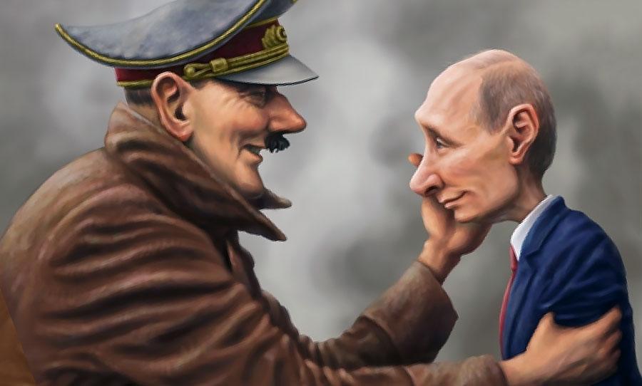Hitleris moko mažąjį išgamą...