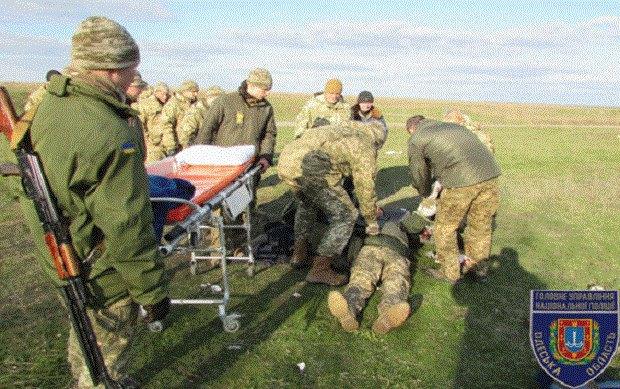 Впроцессе стрельб вОдессе граната застряла вруке курсанта
