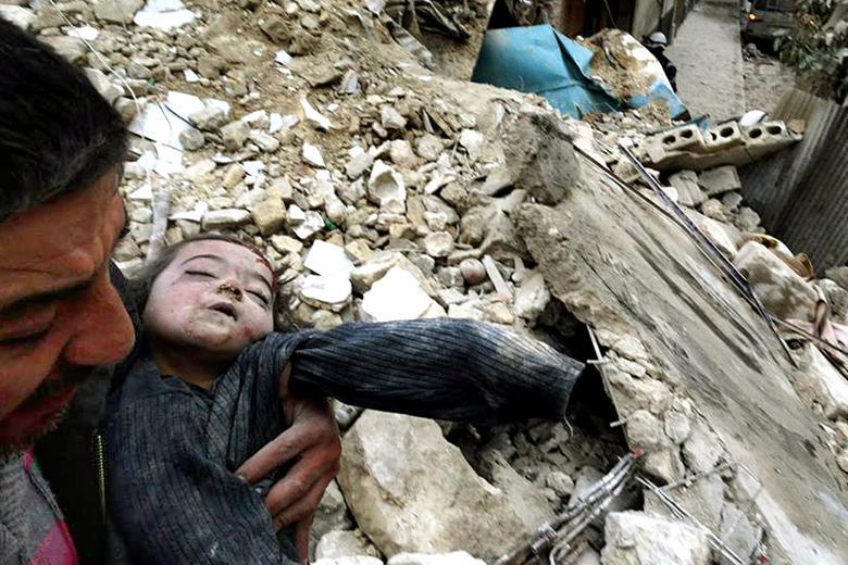 Фото сранеными иубитыми детьми вАпеппо являются постановочными— Чуркин