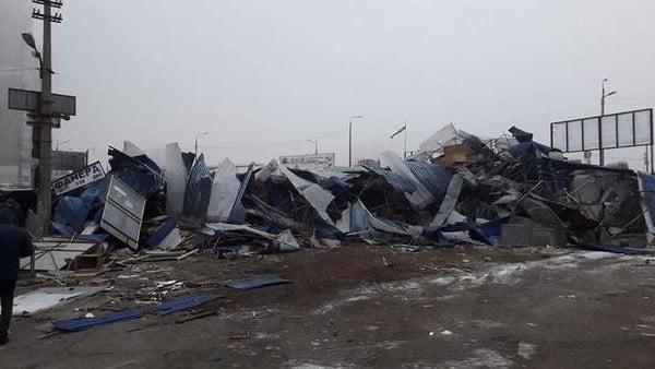 ВКиеве при сносе МАФов пострадали 5 человек
