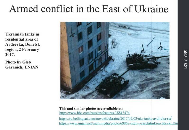 Штаб АТО: Под Авдеевкой обстреливают позиции ВСУ