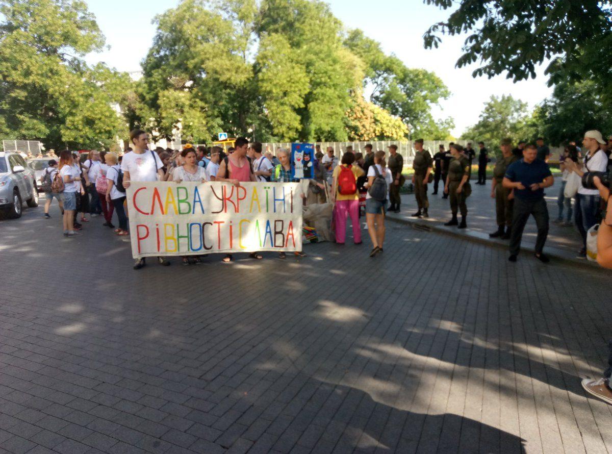 В Одессе проходят акции ЛГБТ и их противников