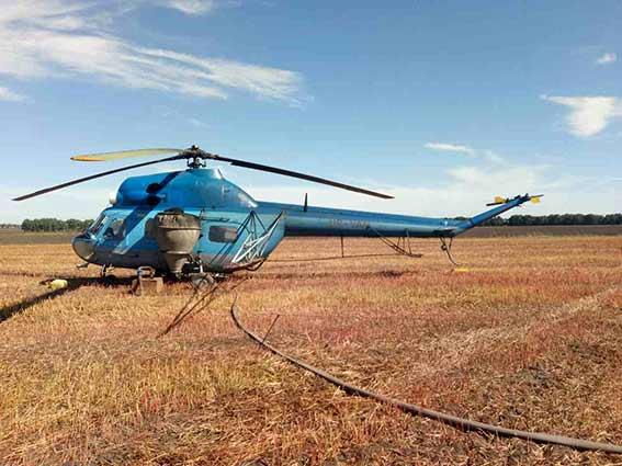 ВВинницкой области агроном умер отранения винтом вертолета
