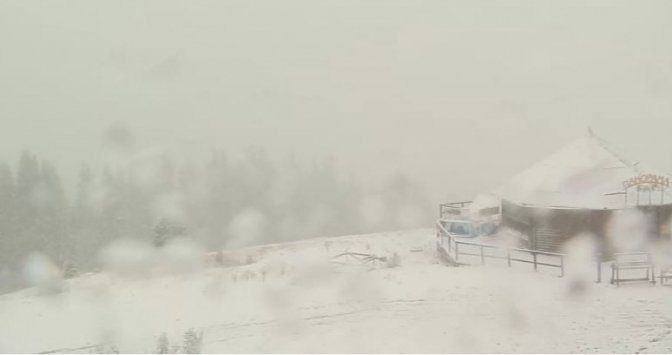 ВЗакарпатской области выпал снег