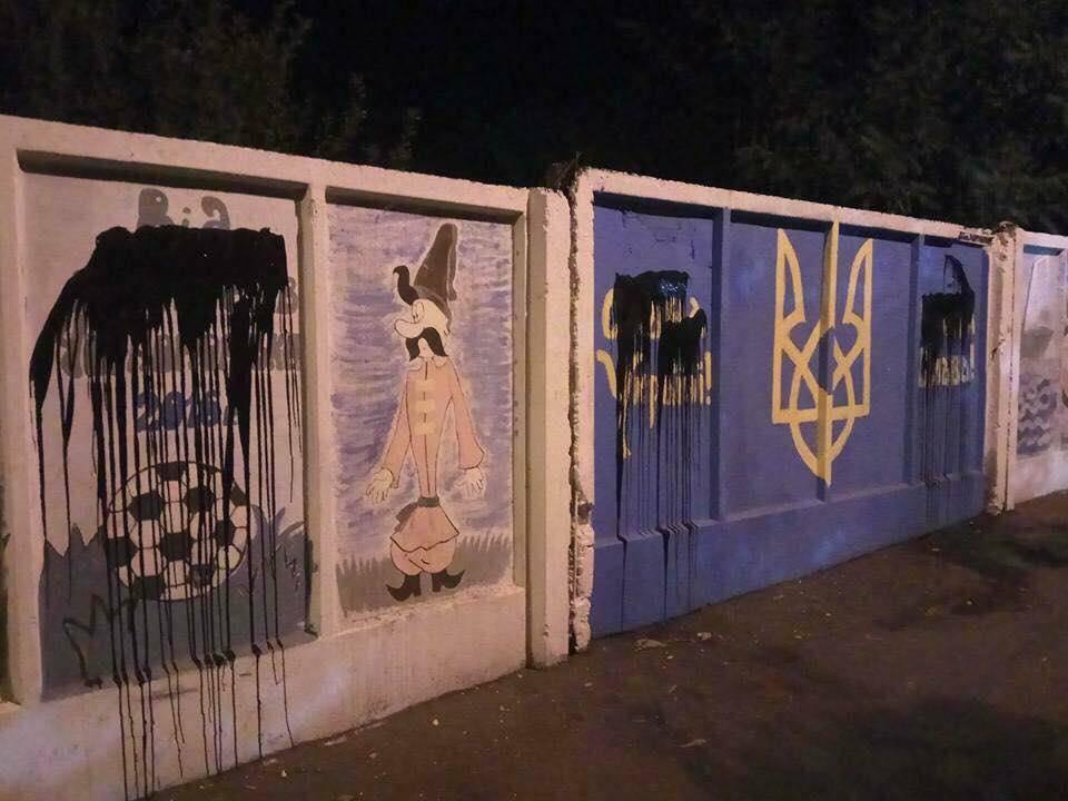 Cепаратист, пытавшийся закрасить греб государства Украины, получил позаслугам