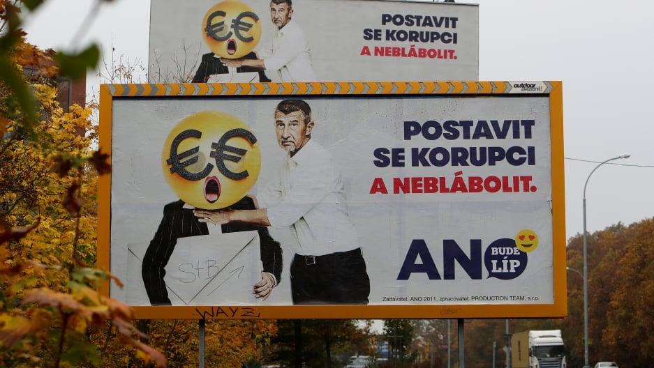 Правая партия «Акция недовольных граждан» одолела навыборах вЧехии