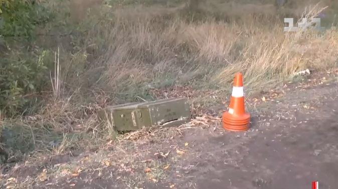 ВНиколаеве уобочины дороги отыскали военный ящик сбоеприпасами