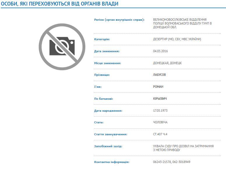СБУ поведала оподполковнике оказавшемся настороне ДНР