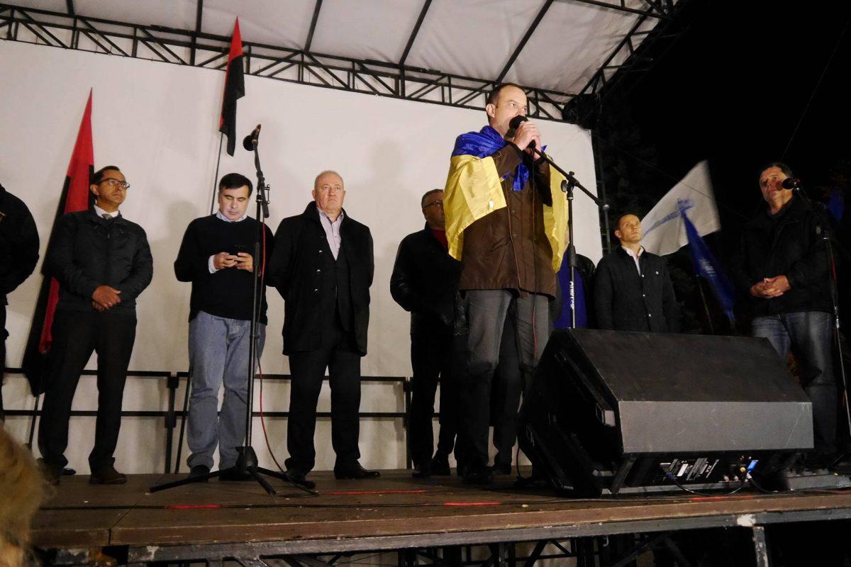Партия Саакашвили объявила опродолжении акции протеста вКиеве