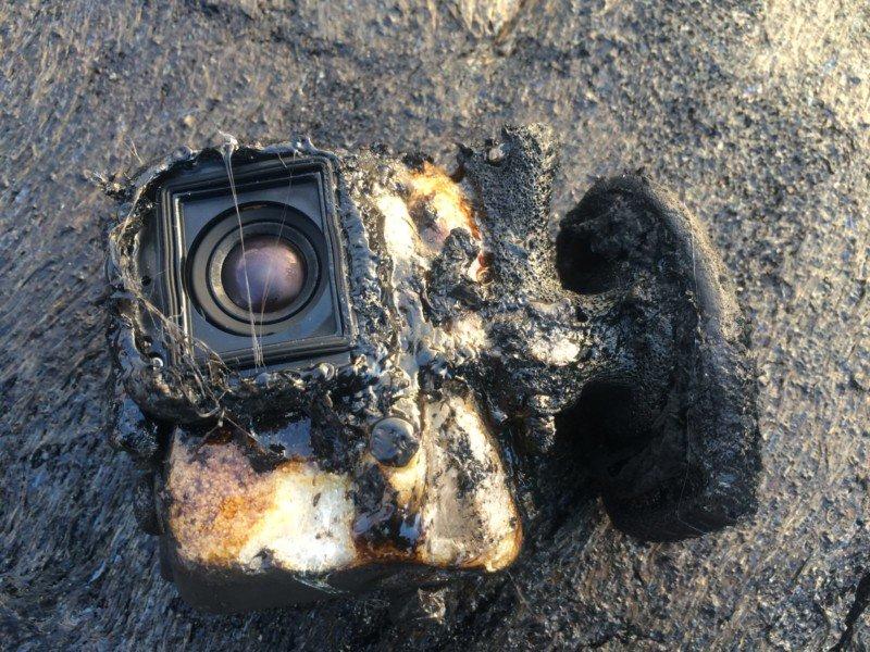 Камера GoPro «пережила» купание влаве исняла это навидео