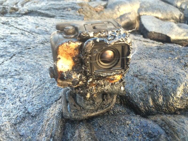 Мужчина утопил GoPro в нагретой  лаве иполучил уникальные кадры