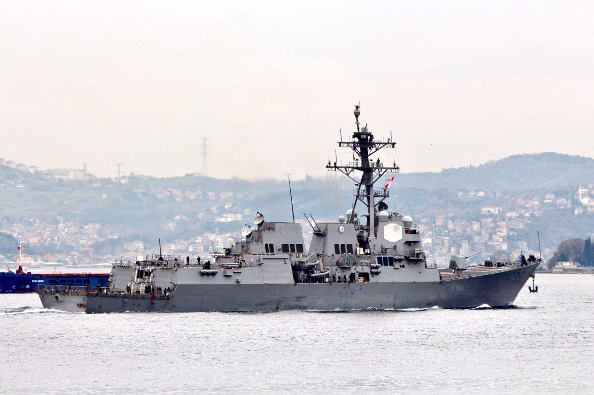Американский эсминец «Джеймс Уильямс» зашел водесский порт