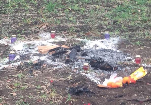 Пентаграмма, свечки иобугленное тело: вОдесской области случилось ритуальное убийство