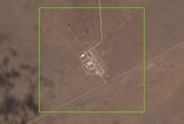 Американский спутник сфотографировал секретный военный полигон вАстраханской области