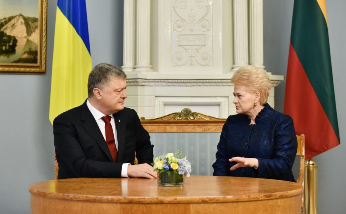 Президент Украины едет вЛитву заподдержкой
