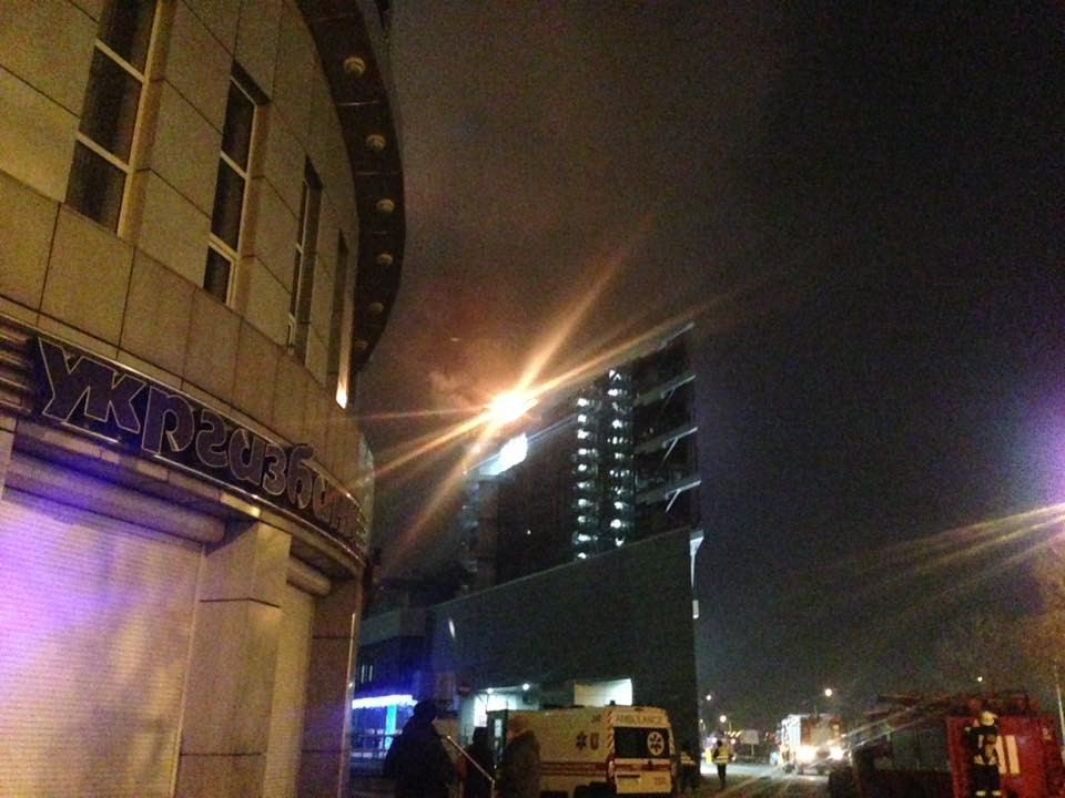 ВКиеве горел бизнес-центр Silver Breeze