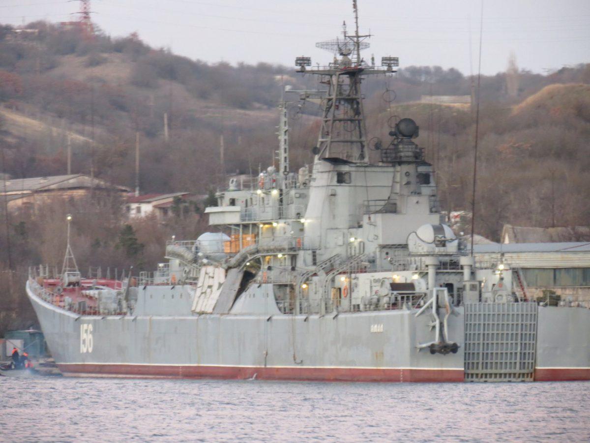 Сухогруз «Орка-2» под флагом Сьерра-Леоне столкнулся с большим десантным кораблем ВМФ России «Ямал»