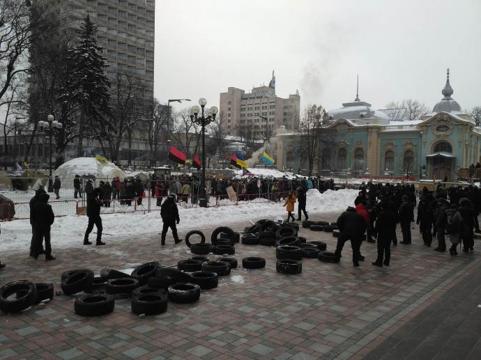 Появилось видео штурма Нацгвардии митингующих под Радой