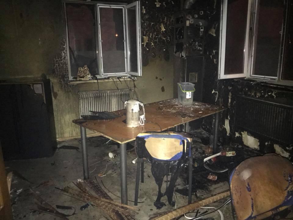 ВРовно сожгли редакцию сайта окоррупции «Четвертая власть»