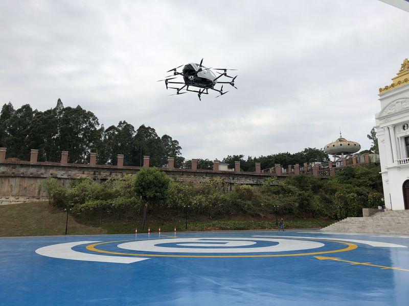 Китайцы показали тестирования дрона-такси