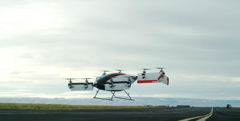Airbus продемонстрировал 1-ый полет воздушного такси