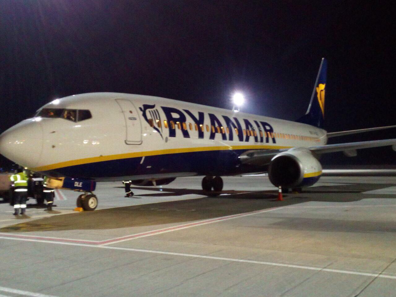 Самолет Ryanair впервый раз вистории совершил посадку вБорисполе