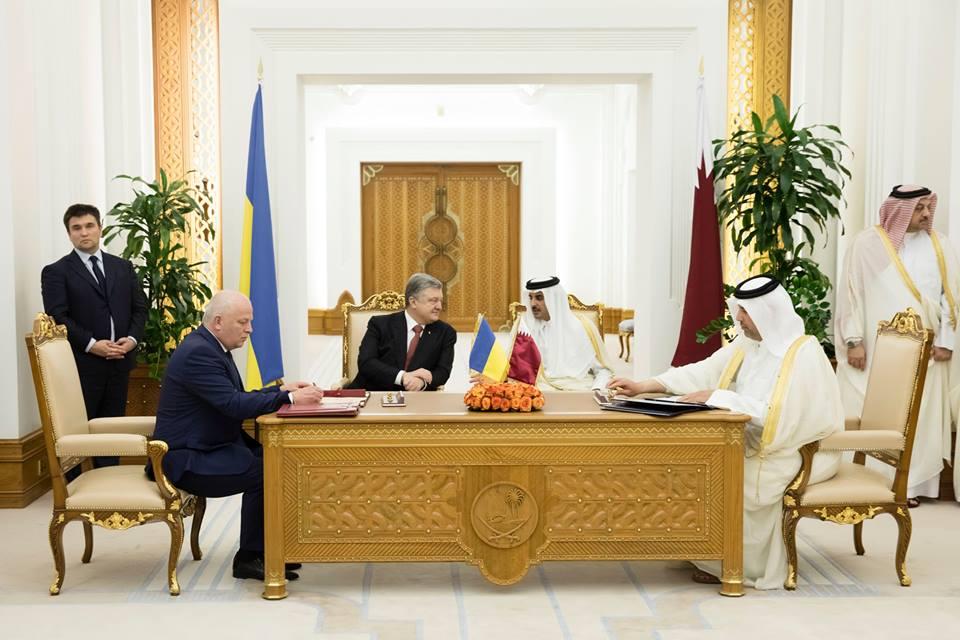Украина иКатар подписали соглашение обезвизе