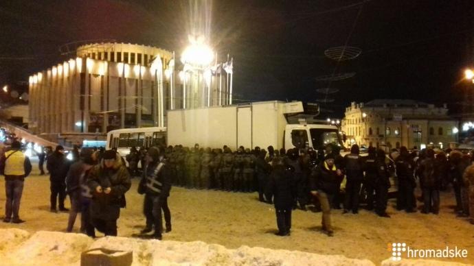 Демонтаж конструкций наМайдане: задержаны несколько активных участников
