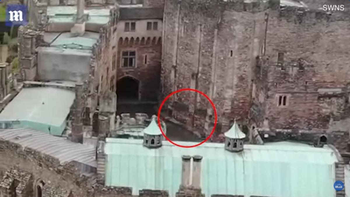 Гражданин Англии снял навидео призрак изстаринного замка