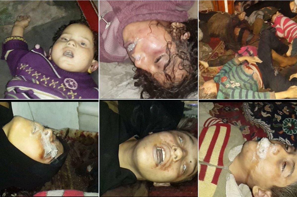 Химическая атака ивоздушный удар, большое количество погибших— Обострение вСирии