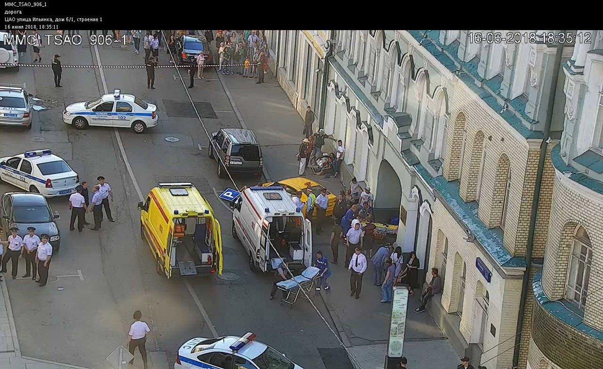 Мед. работники поведали осостоянии пострадавших при наезде такси вцентре российской столице