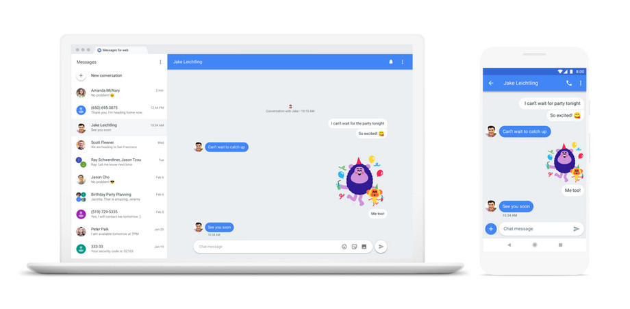Пользователи Android теперь могут отправлять SMS с компьютера