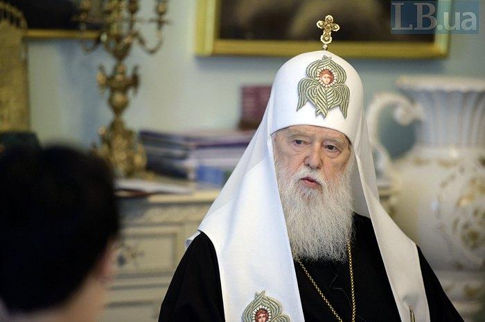 Филарет объявил, что онвозглавит поместную церковь после Томоса иотберет Лавры